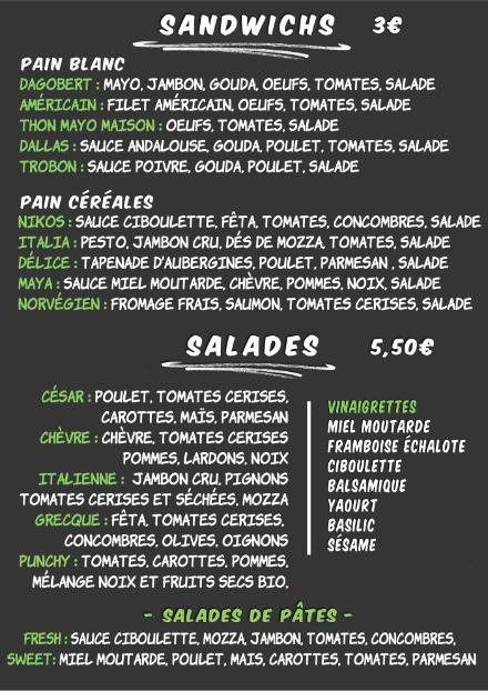 Idee Menu Pour Restaurant